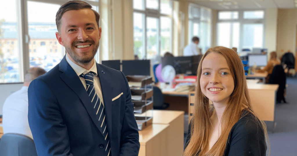 Andrew Davies & Demi Lee Clement in Bevan Buckland LLP's office