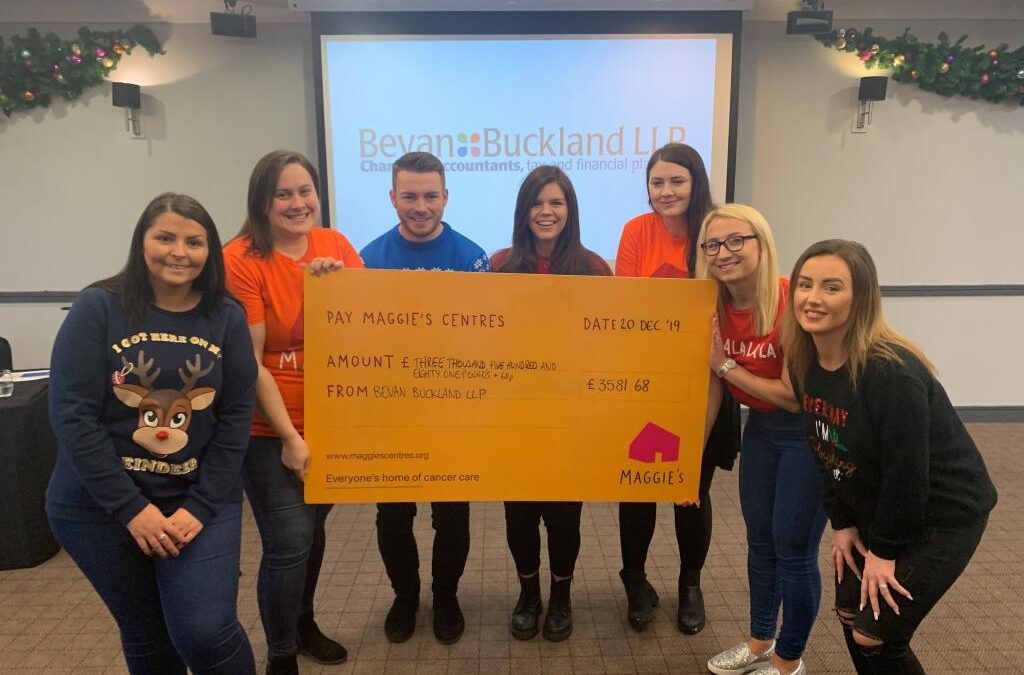 Local Accountancy Firm Presents Cheque to Charity Maggie's
